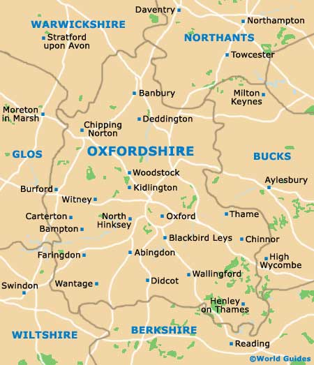 Oxfordshire Map
