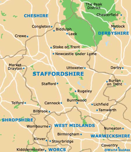 Staffordshire County Tourism And Tourist Information