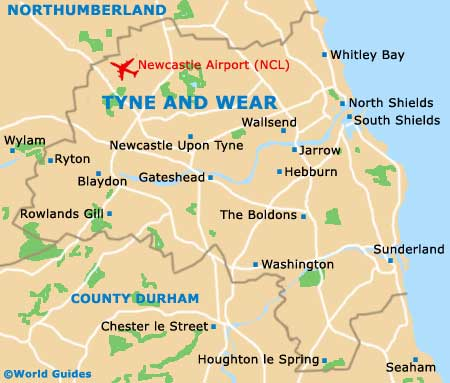 Tyne and Wear map