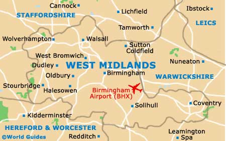 Map Of Uk Midlands.Birmingham Maps And Orientation Birmingham West Midlands England