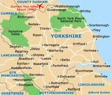 Map of Leeds Bradford Airport LBA Orientation and Maps for LBA