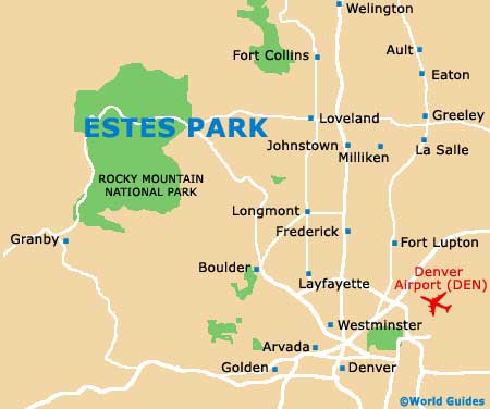 Estes Park Maps and Orientation: Estes Park, Colorado   CO, USA