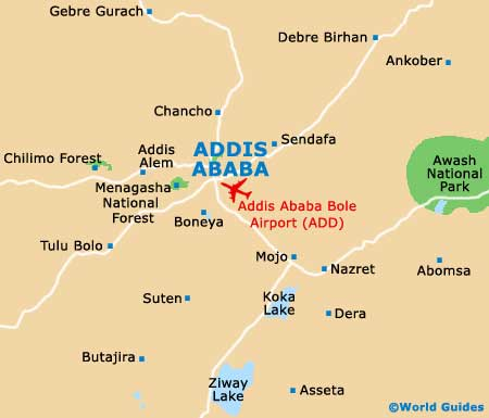 map of africa with countries and capitals. Ababa Capital City Map of