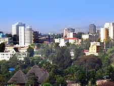 Picture showing the city of Addis Ababa, the capital of Ethiopia, East Africa