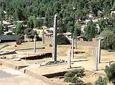 Picture of famous obelisks at Axum (Aksum)