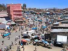 Cityscape view of central Harar