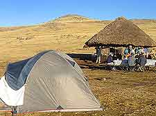 Picture of camping at the Simien Mountains National Park