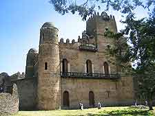 View of the UNESCO World Heritage Site Fasil Ghebbi (Royal Enclosure) in Gond, Ethiopia