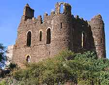 Picture of Fasil Ghebbi (Royal Enclosure) castle at Gondar
