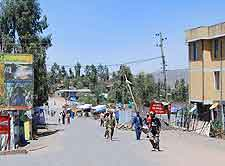 View of central road in Lalibela