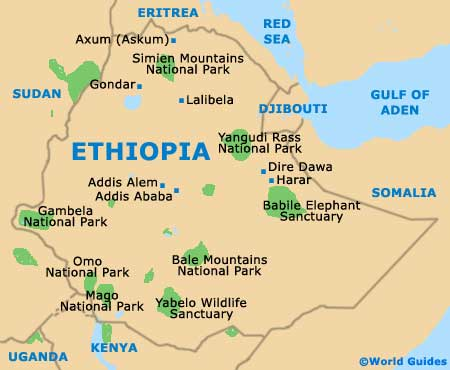 Small Ethiopia Map