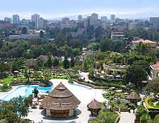 View of Addis Ababa skyline, showing the Senay Hotel