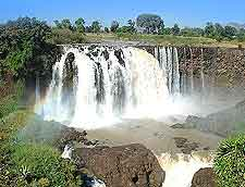 View showing Ethiopia's Blue Nile river and Tisisat Falls