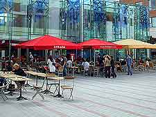 Photo of outdoor cafe tables