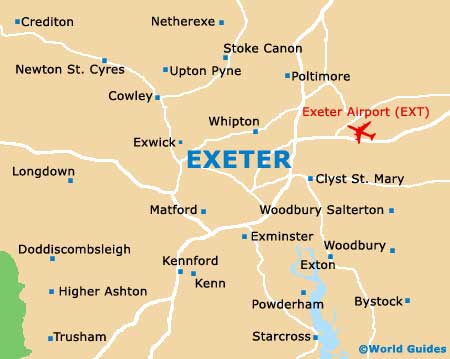 Exeter Maps and Orientation Exeter Devon England