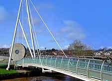 Photograph of the city's Millennium Bridge