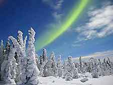 Photo showing the famous Aurora Borealis, taken at Fairbanks, Alaska