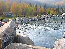 Photograph of Chena Hot Springs<br /> over the Grand Canyon