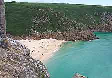 A photo of nearby Porthcurno