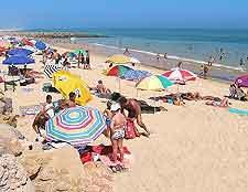 Picture of the beachfront at Faro, in the Portuguese Algarve