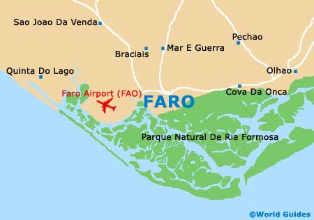 Map Of Faro Airport FAO Orientation And Maps For FAO Faro Airport - Portugal map with airports