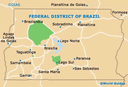 Federal District of Brazil map