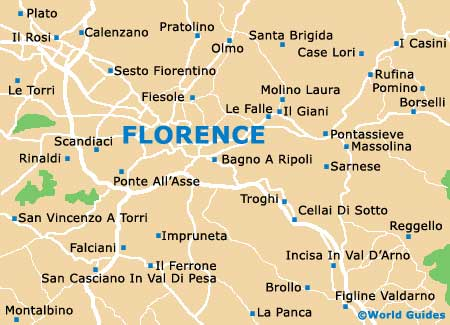 Map of Florence Airport FLR Orientation and Maps for FLR Florence