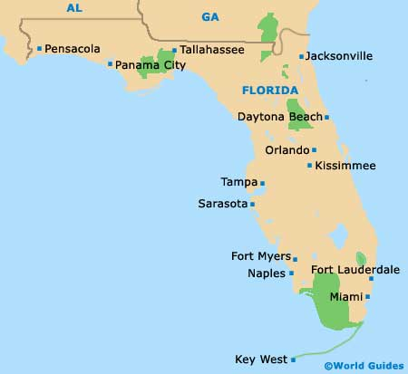 Florida FL State Map