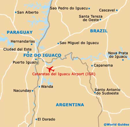Small Foz do Iguacu Map