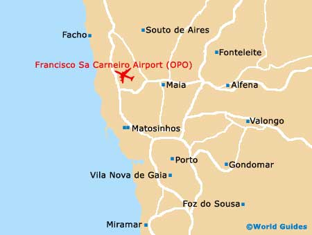 Portugal Airport Map Map Of World - Portugal map with airports