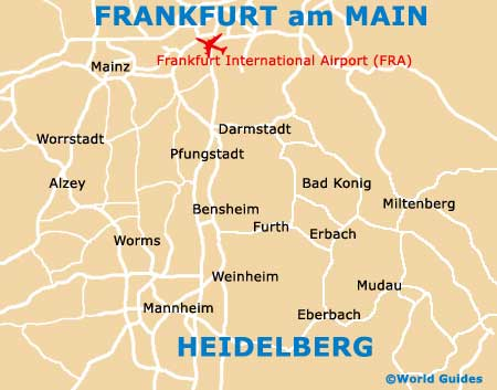 Map of Frankfurt Airport FRA Orientation and Maps for FRA