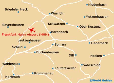 frankfurt hahn airport map