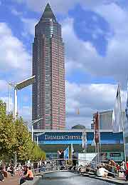 Photo showing the Messetur skyscraper in the background