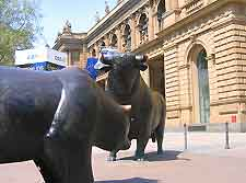 Photo outside of the Frankfurt Stock Exchange (FSE)