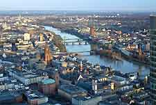 Aerial photo of the River Main