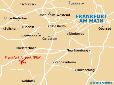 Map Of Frankfurt Airport FRA Orientation And Maps For FRA - Germany map airports
