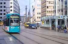 Photo of tram in the city centre