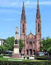 Picture of central cathedral in Wiesbaden