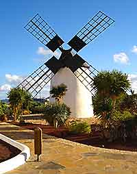 Picture of the windmill in the village of Antigua, Fuerteventura