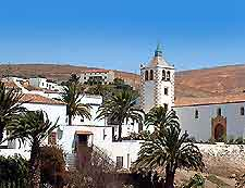 View of Betancuria the former island capital of Fuerteventura
