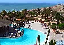 Image of the swimming pool at the Sunrise Taro Beach Hotel in Fuerteventura