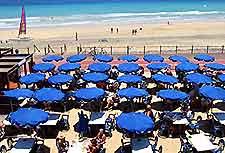 Picture of sunloungers on Fuerteventura's Jandia beach