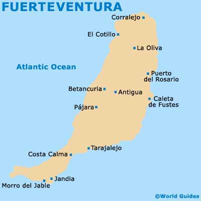 Small Fuerteventura Map