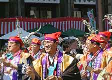 Photo showing Hakata Dontaku Port Festival celebrations