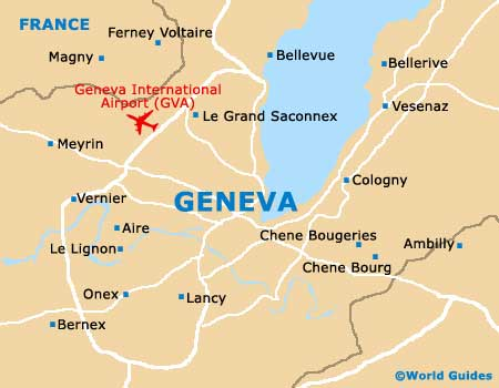 Map of Geneva Airport GVA Orientation and Maps for GVA Geneva Airport
