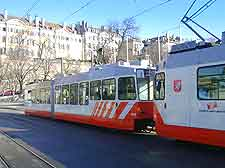 Picture showing electric tram