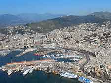 Genoa Airport (GOA) Information: Aerial photo of the city and harbour