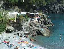Photo of sunbathers at Camogli