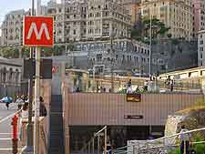 Picture of Metro station and sign