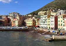Image of Genoa's waterfront restaurants